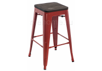 Барный стул Woodville Tolix Bar wood CColl T-2103B-26 red / brown walnut