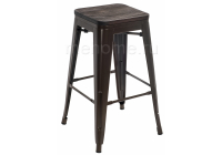 Барный стул Woodville Tolix Bar wood CColl T-2103B-26 bronze / brown walnut