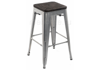 Барный стул Woodville Tolix Bar wood CColl T-2103B-26 alum / brown walnut